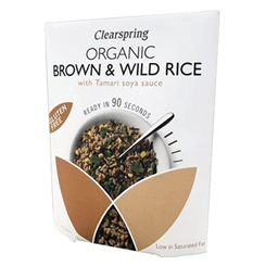 Brown & Wild Rice With Tamari Soya Sauce