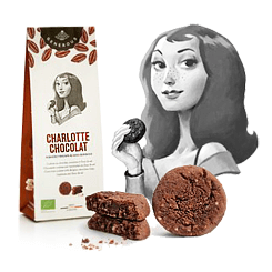 Generous Charlotte Chocolat Chocolate Cookies with Chocolate Chips, Hazelnuts & Fleur de Sel