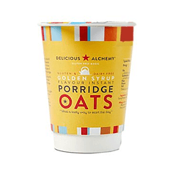 Delicious Alchemy Gluten & Dairy Free Golden Syrup Instant Porridge Pot