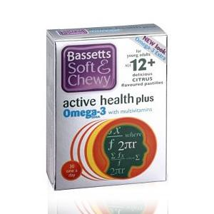 Bassett's Active Health Plus Omega 3 with Multivitamins Citrus Flavour