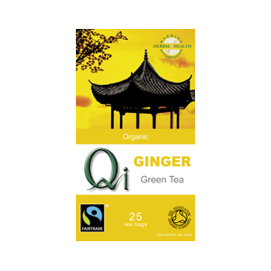 Qi Organic Green Tea With Ginger