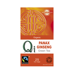 Qi Organic Green Tea With Ginseng