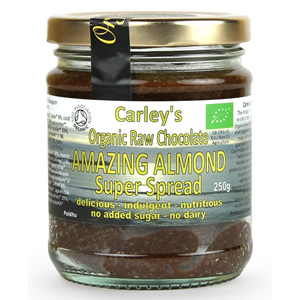 Carley's Organic Raw Chocolate Almond Spread