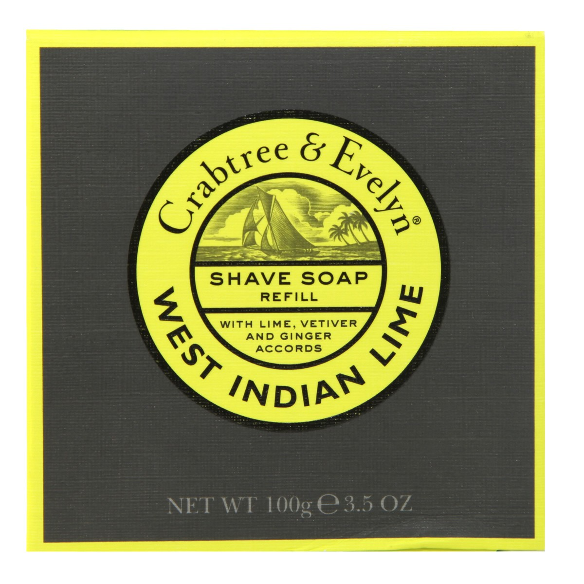 Crabtree & Evelyn West Indian Lime Shave Soap Refill