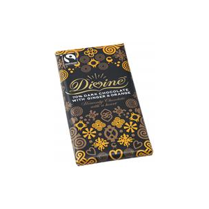 Divine Chocolate Dark Chocolate Ginger & Orange