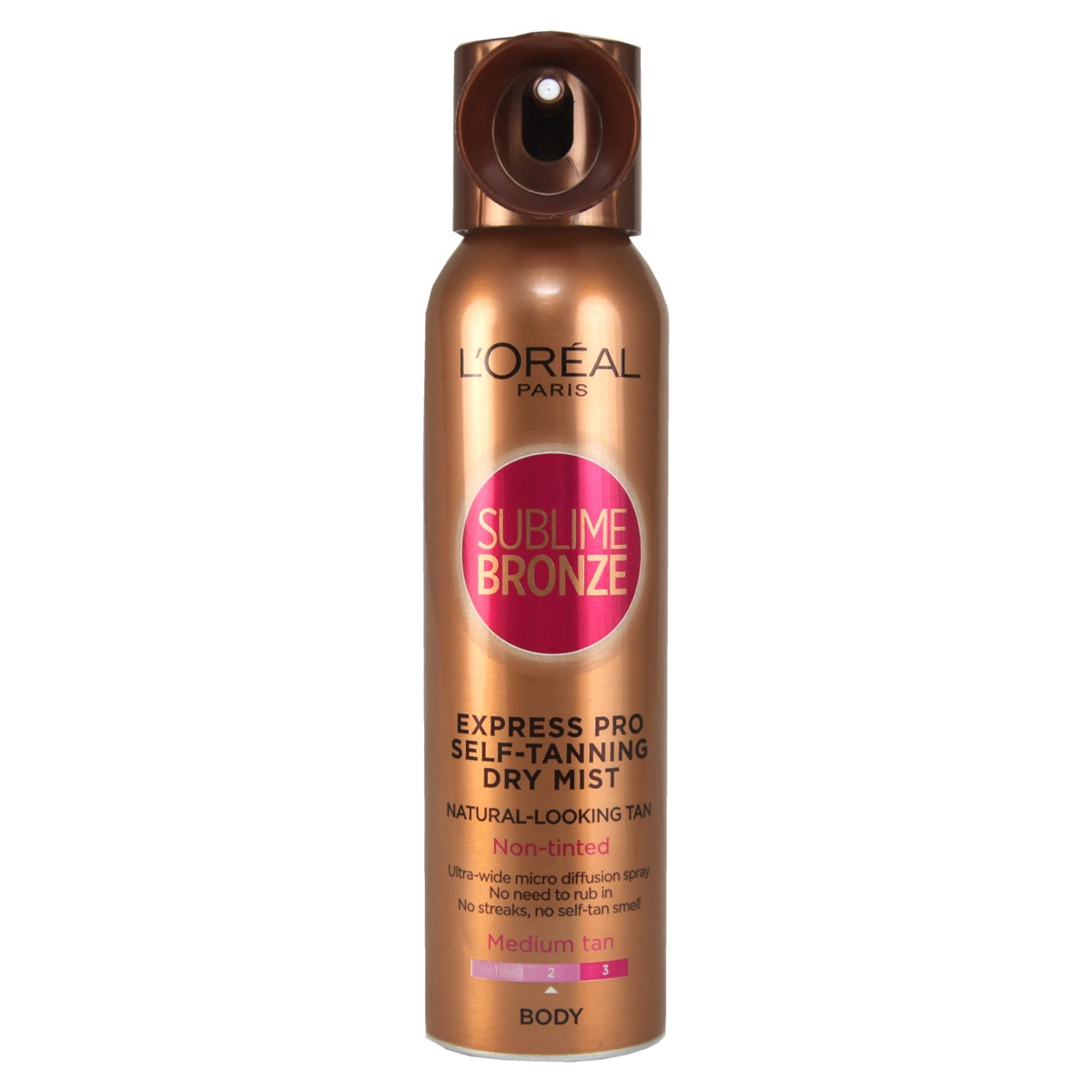 L'Oreal Paris Sublime Bronze Express Pro Self-Tanning Dry Mist Spray For Body - Medium Skin