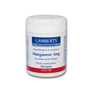 Lamberts Manganese 5mg (as Amino Acid Chelate)