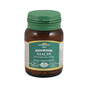 Natures Own Niacin (Vitamin B3) Tablets