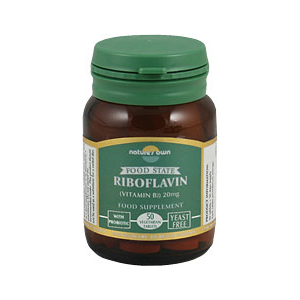 Natures Own Riboflavin (Vitamin B2) Tablets
