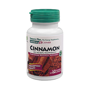 Natures Plus Herbal Actives Cinnamon 350 mg Vcaps