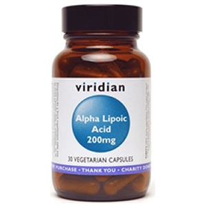 Viridian Alpha Lipoic Acid 200mg Caps