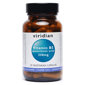 Viridian Vitamin B5 (Pantothenic Acid) 350mg