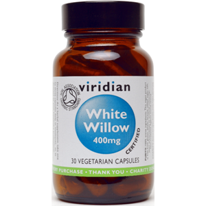 Viridian White Willow 400mg Veg Caps