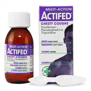 Actifed Multi-Action Chesty Coughs Liquid