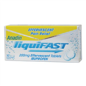 Anadin LiquiFast 200mg Effervescent Tablets