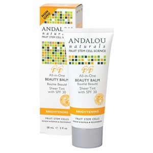 Andalou Naturals Brightening All-in-One Beauty Balm Sheer Tint with SPF 30