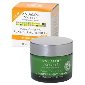 Andalou Naturals Brightening Purple Carrot + C Luminous Night Cream