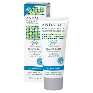 Andalou Naturals Clarifying Oil Control Beauty Balm Un-Tinted with SPF 30