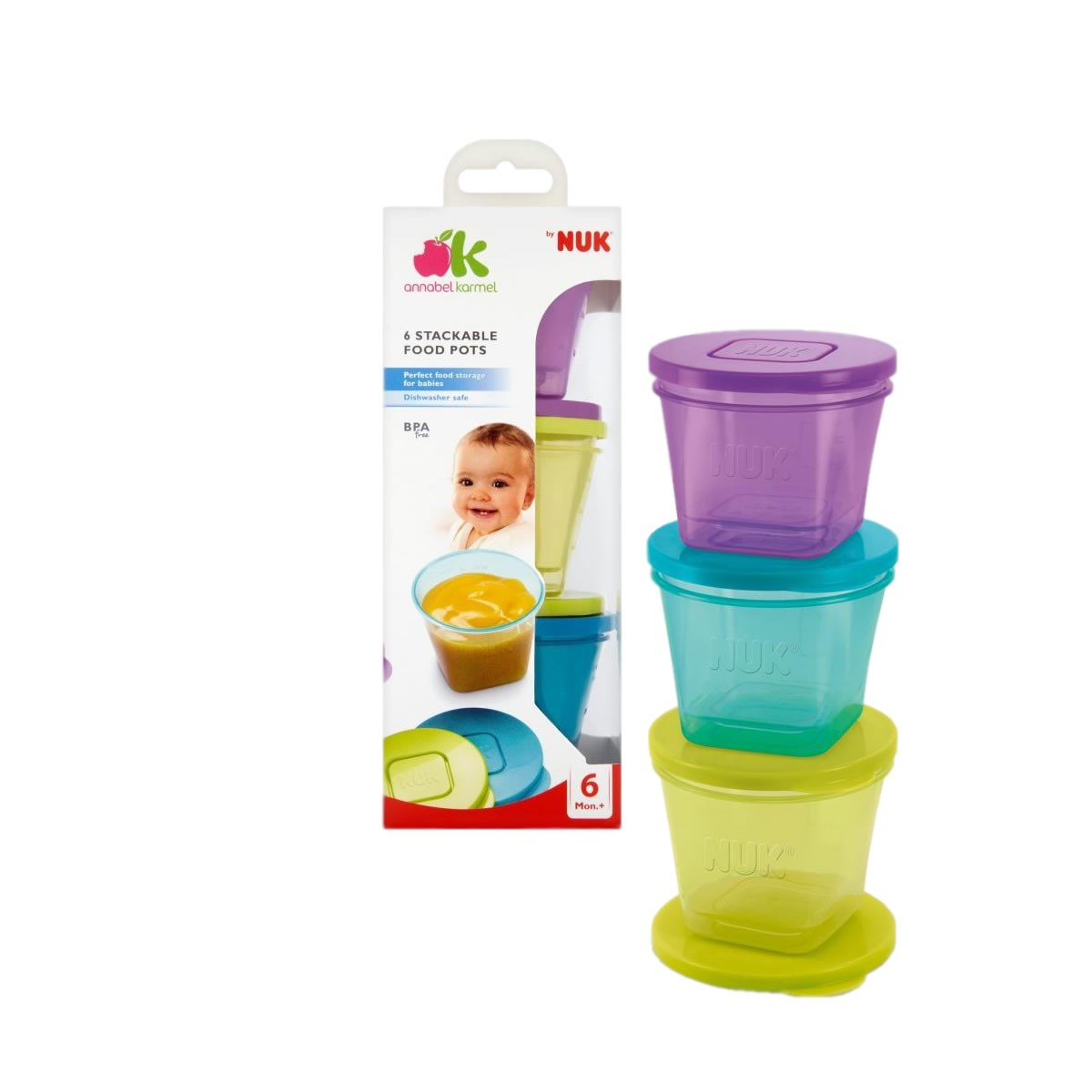 Annabel Karmel 6 Stackable Food Pots