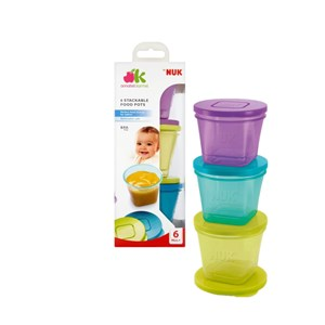 Annabel Karmel 6 Stackable Food Pots 6 months+