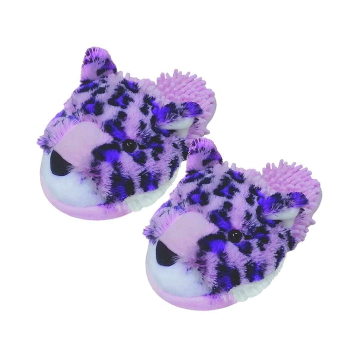 Aroma Home Fun For Feet Fuzzy Slippers - Pink Leopard