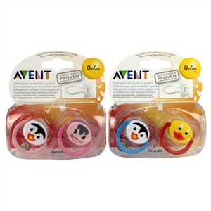 Avent Classic Silicone Soother Animal 0-6m