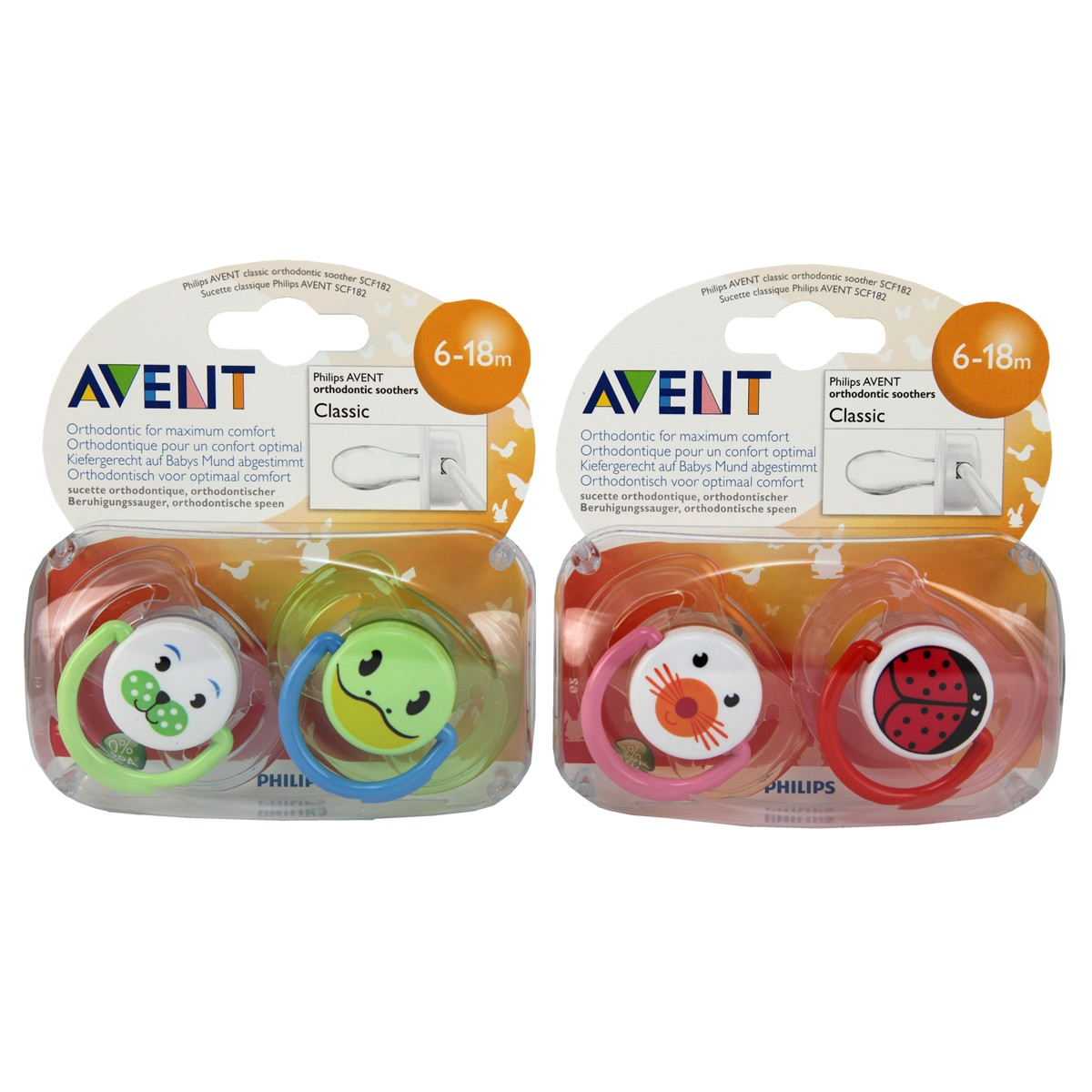Avent Classic Silicone Soother Animal 6-18m