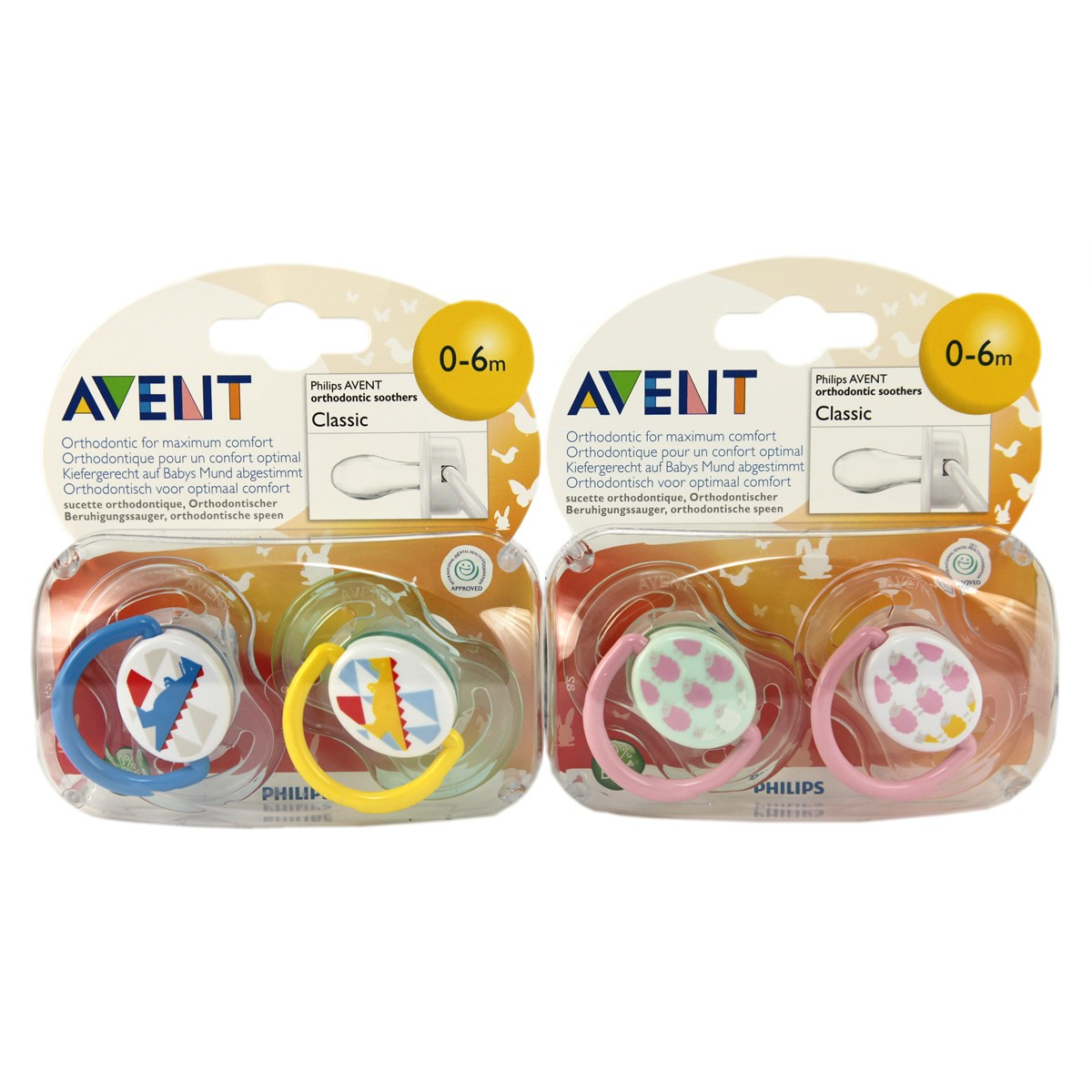 Avent Classic Silicone Soother Fashion 0-6m