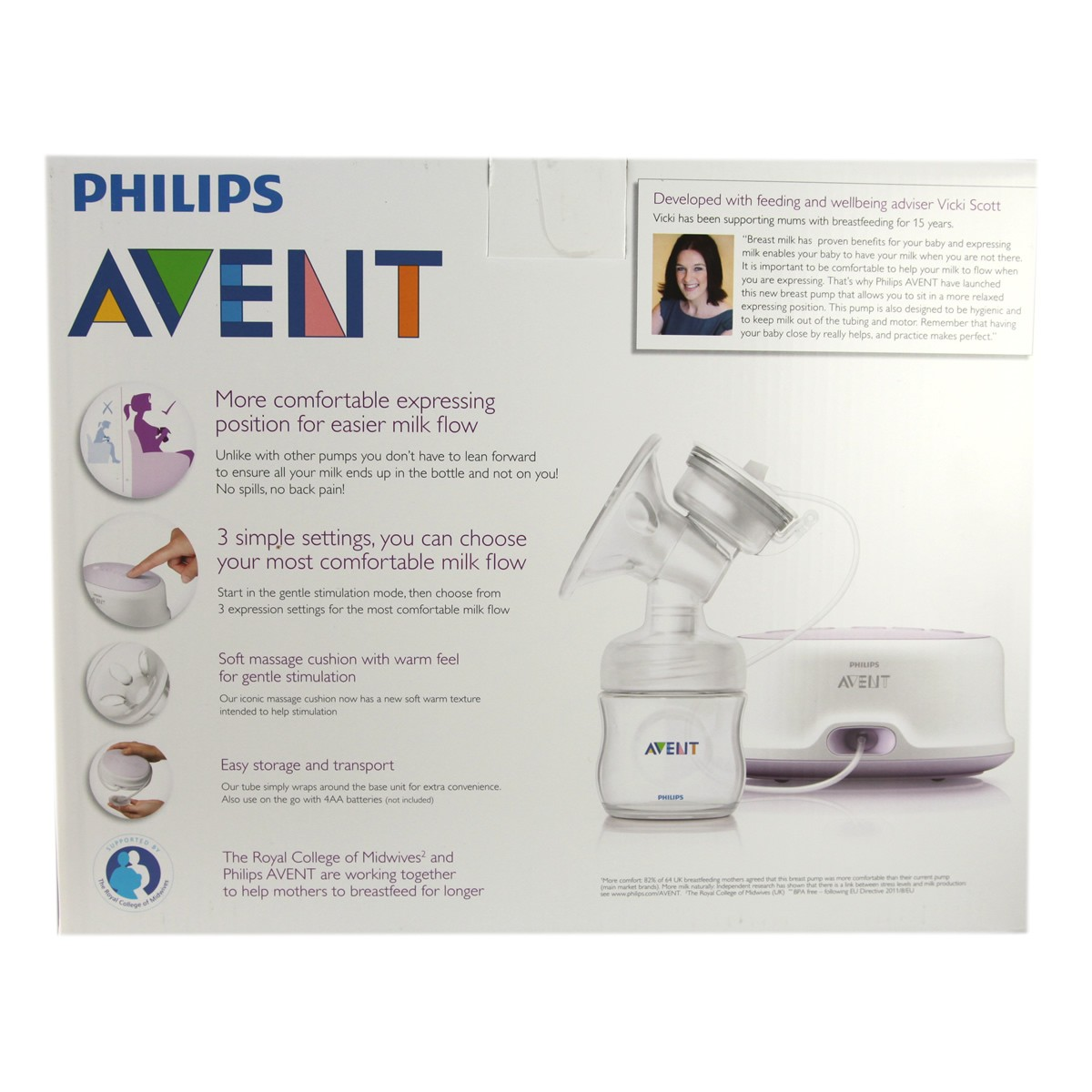 Avent Single Electric Breast Pump Natural