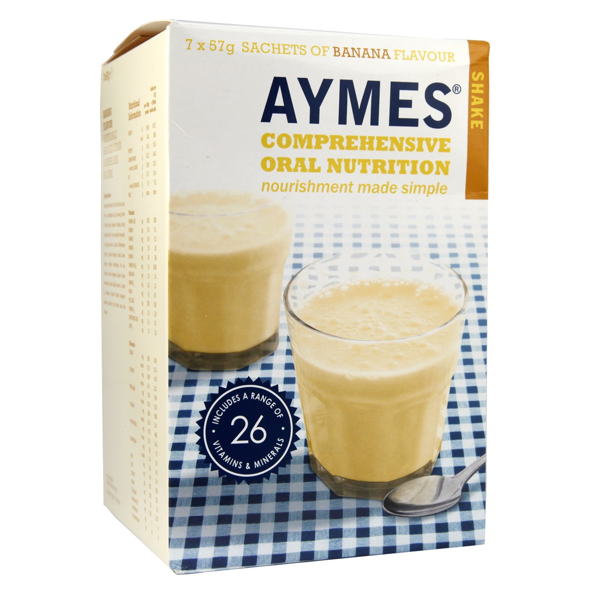 Aymes Comprehensive Oral Nutrition Shake - Banana Flavour