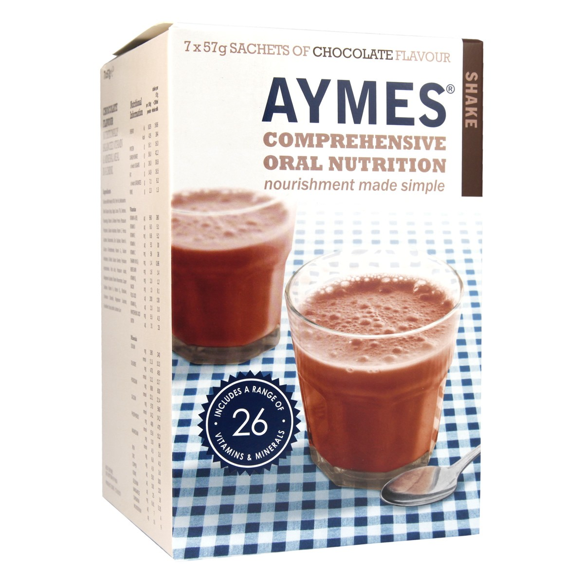 Aymes Comprehensive Oral Nutrition Shake - Chocolate Flavour