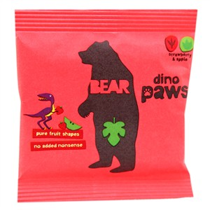 Bear Dino Paws - Strawberry & Apple