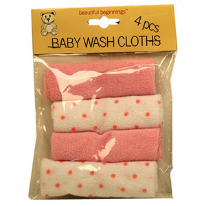 Beautiful Beginnings Baby Wash Cloths Blue
