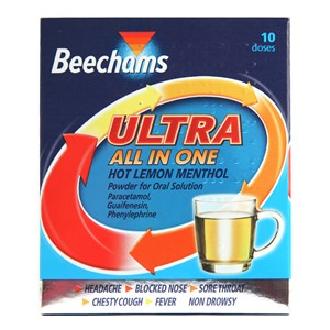 Beechams Ultra All In One Hot Lemon Menthol
