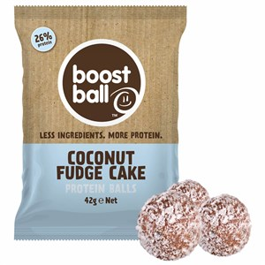 Image of Boostball Coconut Fudge Cake Protein Balls 42g
