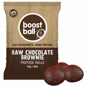 Image of Boostball Raw Chocolate Brownie Protein Balls 42g