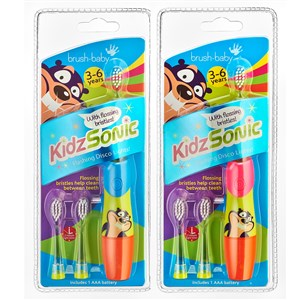 BrushBaby KidzSonic Electric Toothbrush (36 Years) Mixed Colours Blue