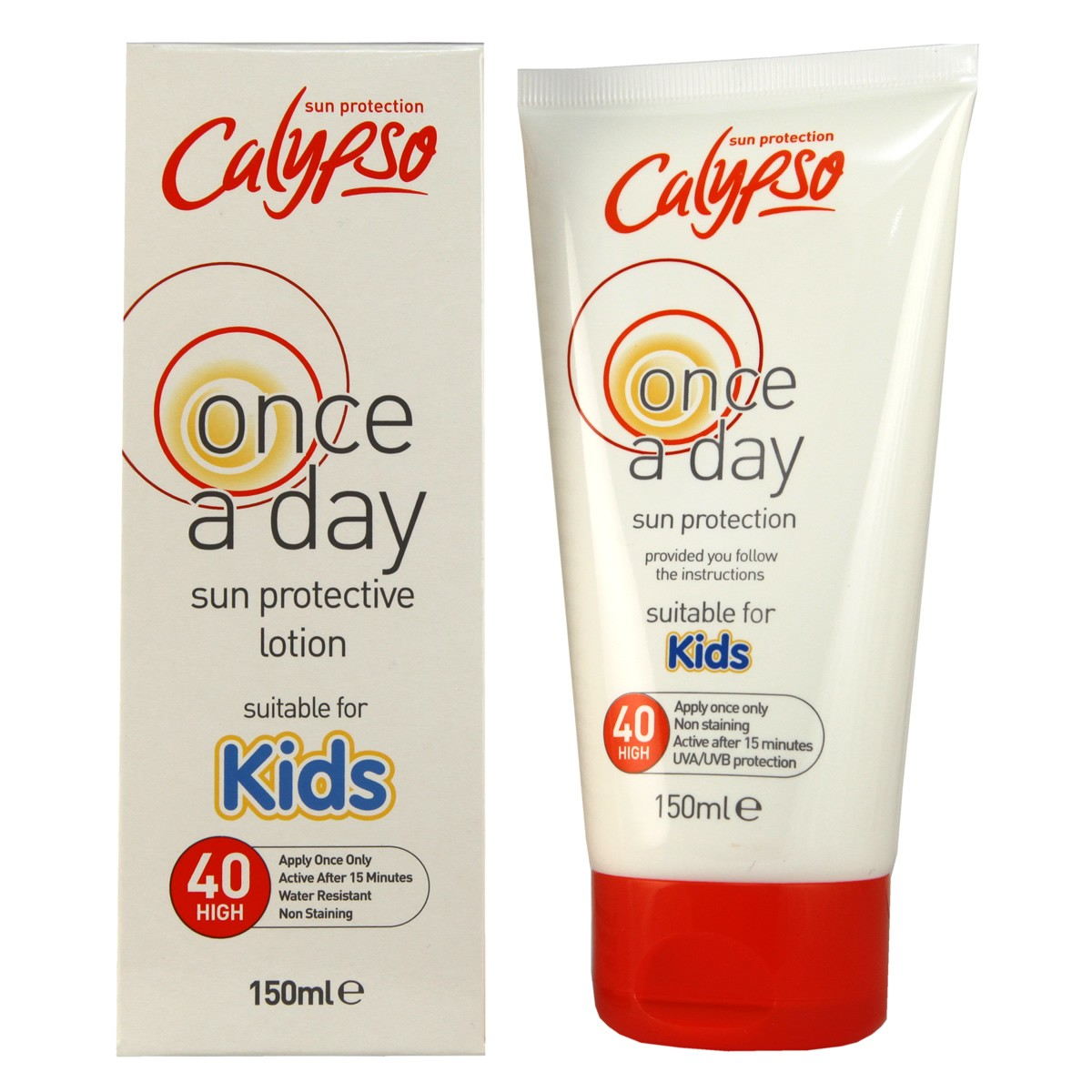 Calypso Once a Day Sun Protection SPF40 for Kids