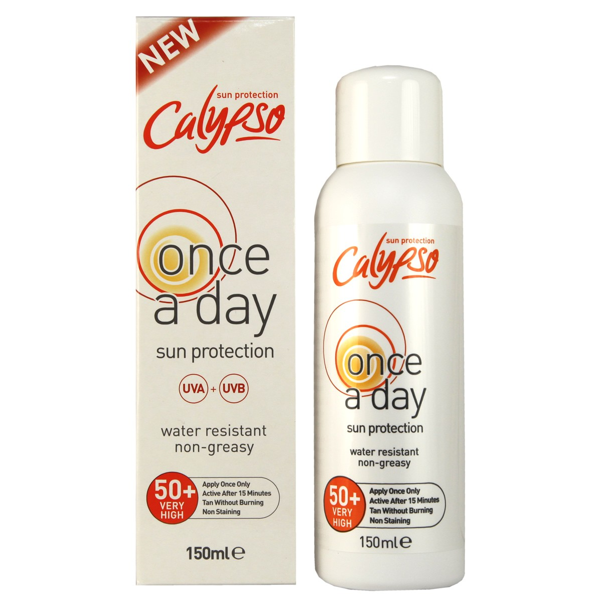 Calypso Once a Day Sun Protection SPF50+
