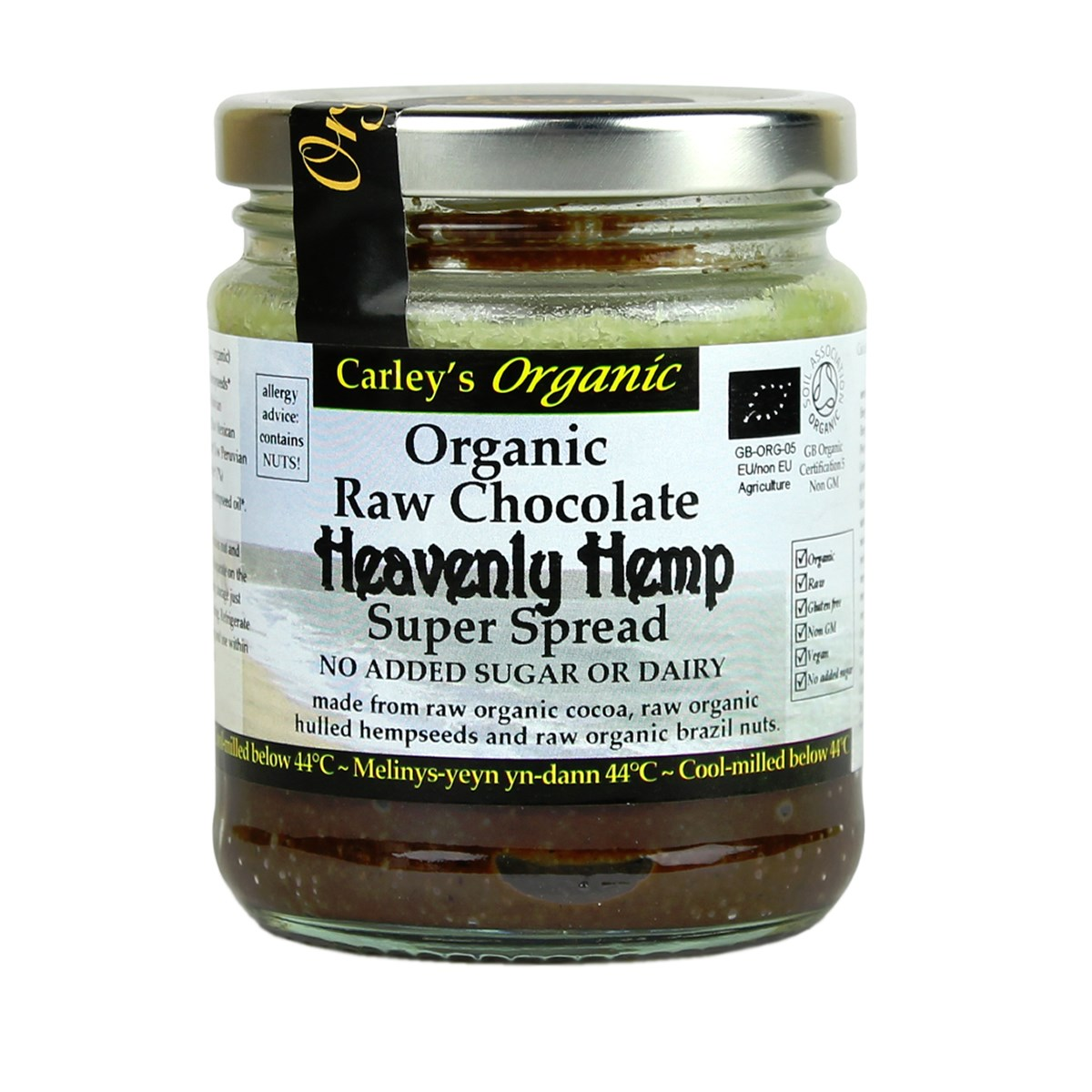 Carley's Organic Raw Chocolate Hemp Spread