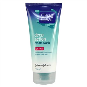 Clean & Clear Deep Action Cream Wash - Oil Free
