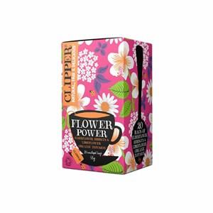 Clipper Flower Power Elderflower Hibiscus &amp Limeflower Tea 20 bags