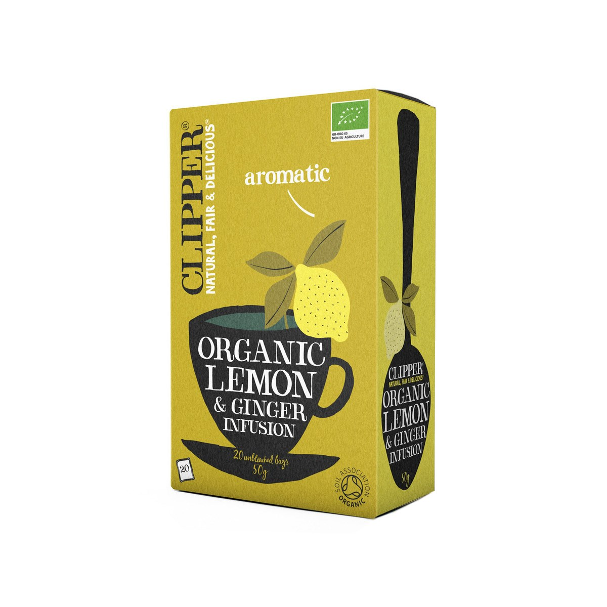 Clipper Organic Lemon and Ginger Tea