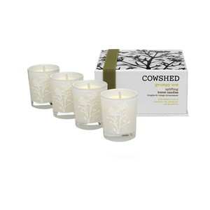 Cowshed Grumpy Cow Uplifting Travel Candles 4 x 38g