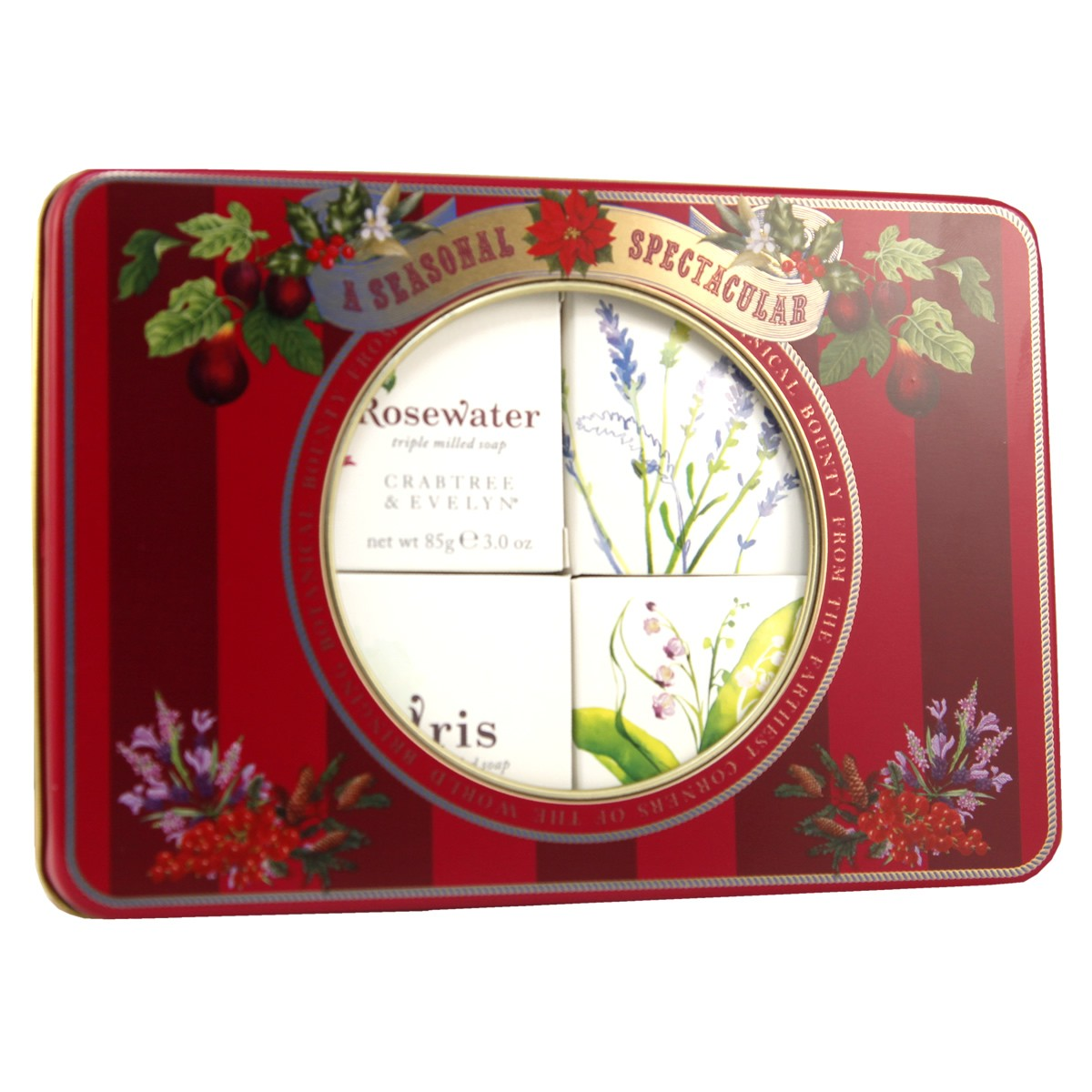 Crabtree & Evelyn English Floral Soap Tin