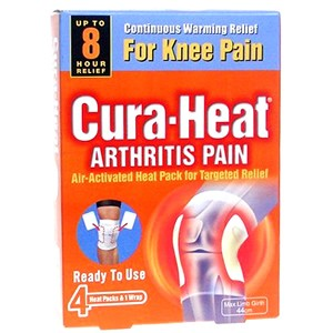 CuraHeat Arthritis Pain for Knee Pain 4 pads