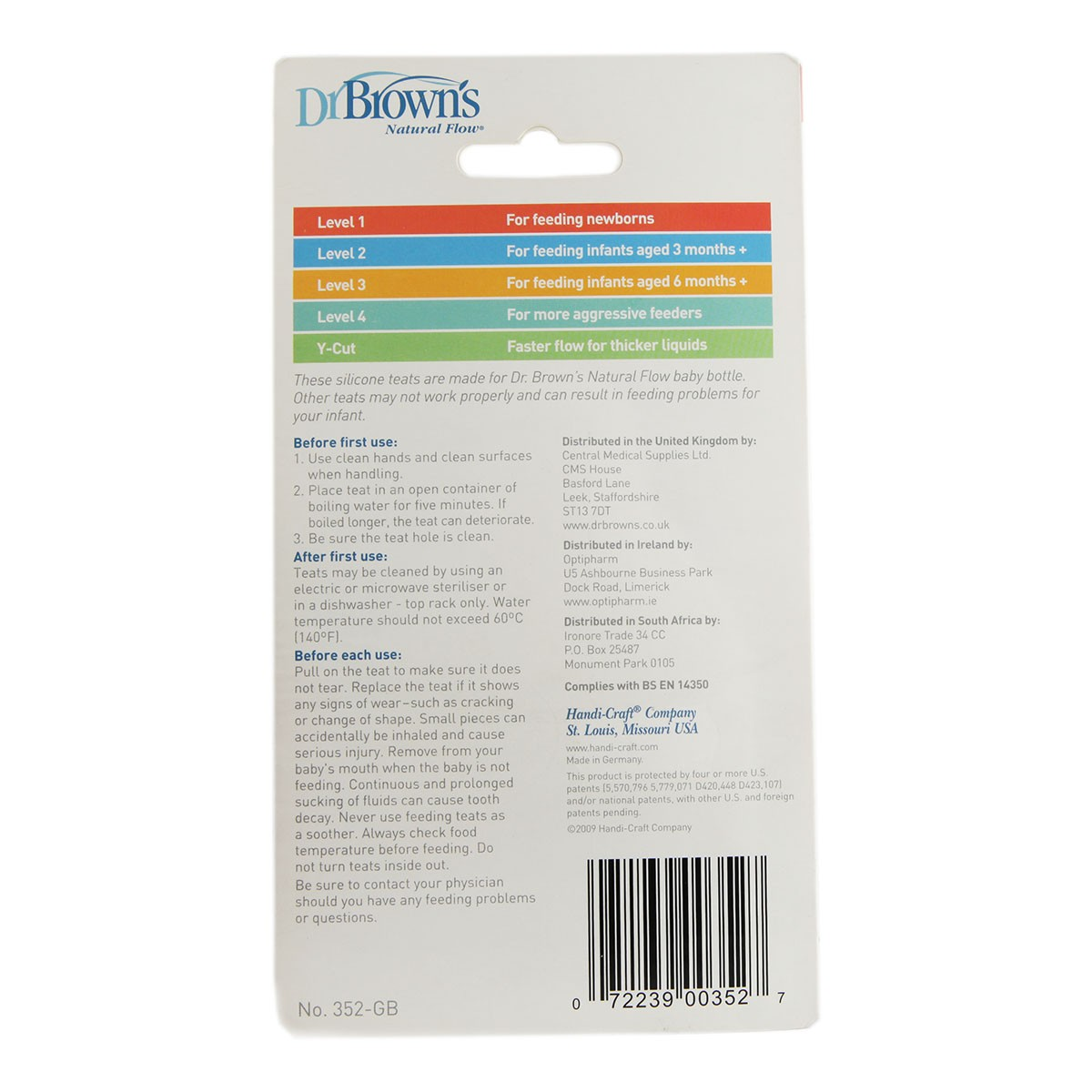 Dr Brown's 2 Silicone Wide Neck Teats - BPA Free
