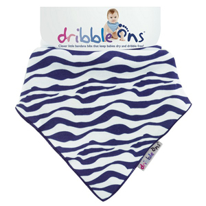 Dribble Ons Designer Dribble on - Zebra Stripe