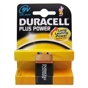 Duracell Plus Power Batteries - 9V