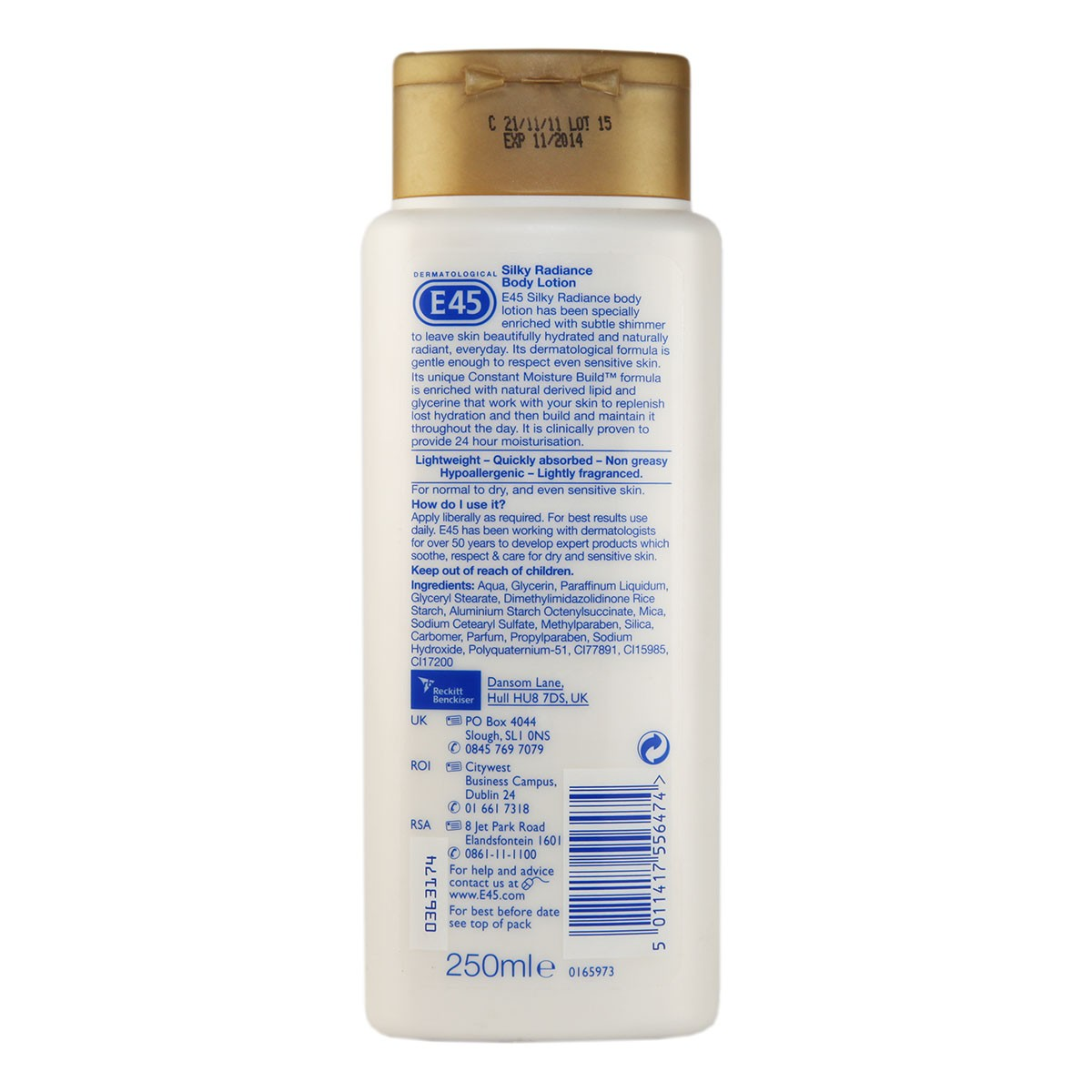 E45 Silky Radiance Body Lotion - Normal to Dry Skin